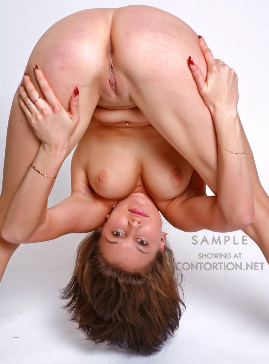 Naked yoga girl